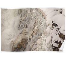 Yellowstone Frozen Canyon Falls Poster