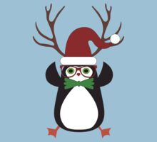 Funny Hipster Xmas Penguin One Piece - Short Sleeve