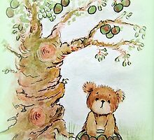 Harvest Bear - watercolour painting by Penny Bonser