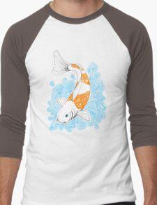 Fish carp Koi - Orange Men's Baseball ¾ T-Shirt