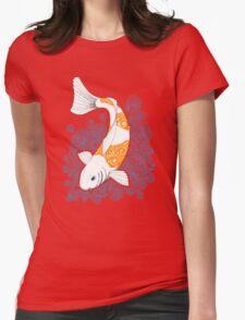 Fish carp Koi - Orange Womens Fitted T-Shirt