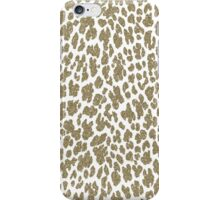 Girly hipster brown faux glitter animal print  iPhone Case/Skin