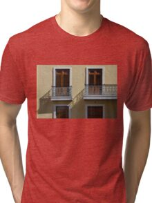 Sophisticated Wrought Iron Shadows - the Beautiful Colonial Architecture of Old San Juan Tri-blend T-Shirt