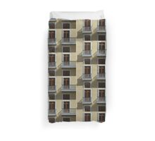 Sophisticated Wrought Iron Shadows - the Beautiful Colonial Architecture of Old San Juan Duvet Cover