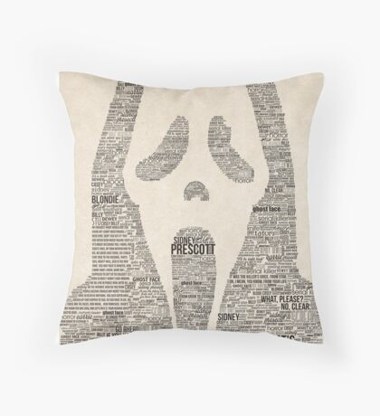 Scream - Movie Typography Throw Pillow