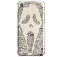 Scream - Movie Typography iPhone Case/Skin