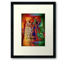 3777 Abstract Patterning Framed Print