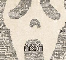 Scream - Movie Typography Sticker