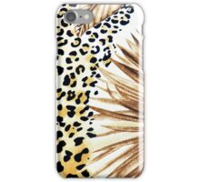 Hipster abstracty yellow black floral animal print  iPhone Case/Skin