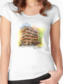 Athens architecture Women's Fitted Scoop T-Shirt