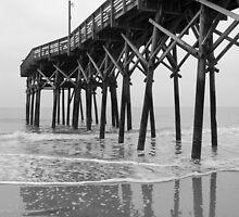 Myrtle Beach Pier - B&W by JimSanders