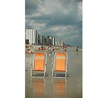 Beach chairs awaiting ... Photographic Print