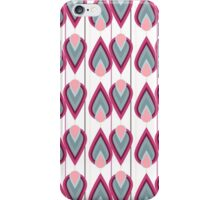 Girly pink gray coral abstract retro pattern iPhone Case/Skin
