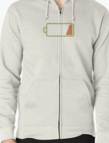 Silicon Valley - Low Battery Zipped Hoodie