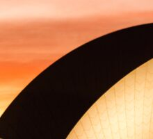 Opera House Sunset Detail Sticker