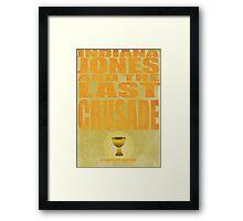 Indiana Jones and The Last Crusade Framed Print