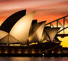Sydney Icons Sunset by Ana Andres-Arroyo