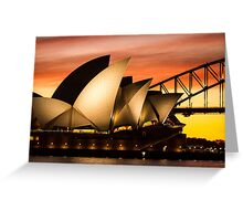 Sydney Icons Sunset Greeting Card