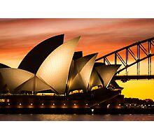 Sydney Icons Sunset Photographic Print