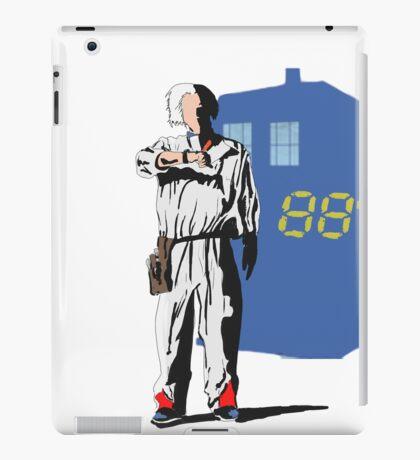 tardis to the futur  iPad Case/Skin