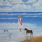 A Walk on the Beach by Linda Bennett