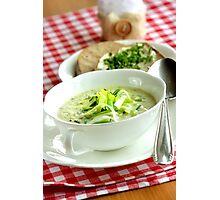 Leek Chiffonades Soup  Photographic Print