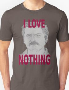 Ron Swanson Pencil Portrait T-Shirt