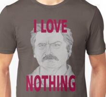 Ron Swanson Pencil Portrait Unisex T-Shirt