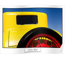 1931 Ford - Titled Print Poster