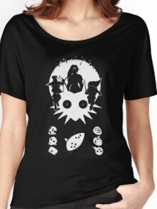 Majora's Mask White Silhouette Women's Relaxed Fit T-Shirt