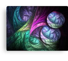 Colored windings Canvas Print