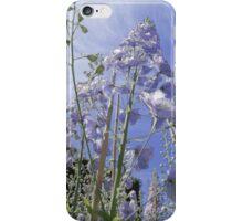 Blue Delphinium Flower Tower iPhone Case/Skin
