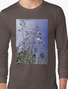 Blue Delphinium Flower Tower Long Sleeve T-Shirt
