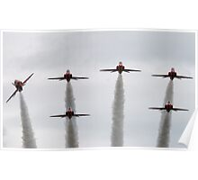 RAF Red Arrows Display Team Poster