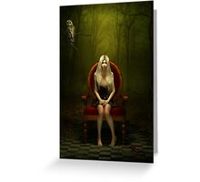Magical red chair Greeting Card