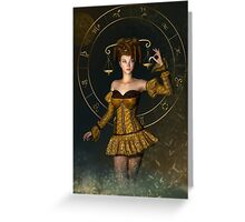 Libra fantasy zodiac sign Greeting Card