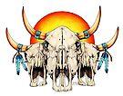 Three Ancient Spirit Guides by Sheryl Unwin