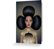 Queen of clubs portrait Greeting Card