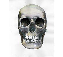 Skull (watercolor) Photographic Print
