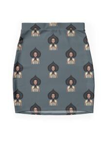 Queen of spades portrait Mini Skirt