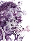 Jimi Hendrix. by amaniacadored