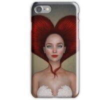 Queen of hearts portrait iPhone Case/Skin