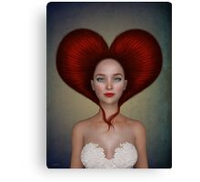 Queen of hearts portrait Canvas Print