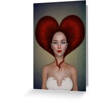 Queen of hearts portrait Greeting Card
