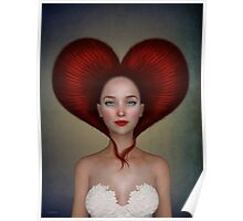 Queen of hearts portrait Poster