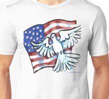 US Flag Dove of Peace  Unisex T-Shirt