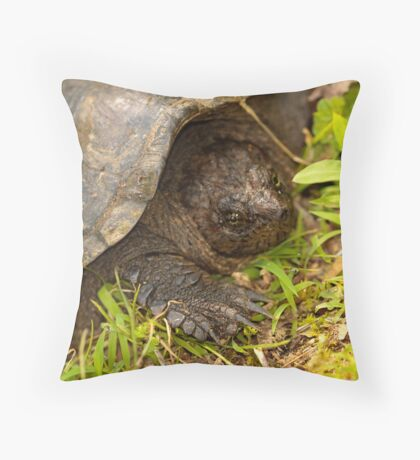Snapping Turtle Surprise Throw Pillow
