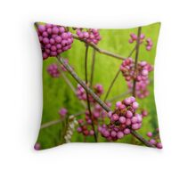 Pink Berries Throw Pillow