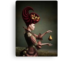 Madam Fruit and the levitating pear Canvas Print
