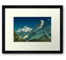 The Glacier and The Light. Framed Print